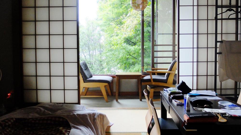 Tatami Room di Hostel di Pulau Miyajima, Hiroshima